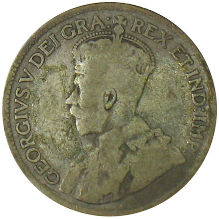 G-4 - 25 cents 1911 to 1936 - George V