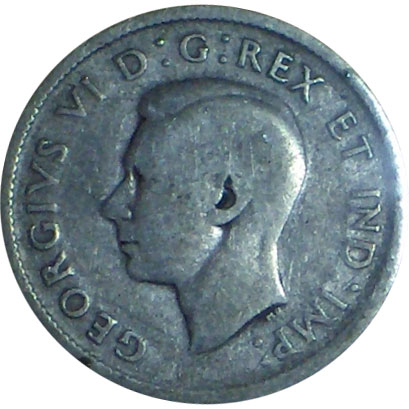 G-4 - 25 cents 1937 to 1952 - George VI