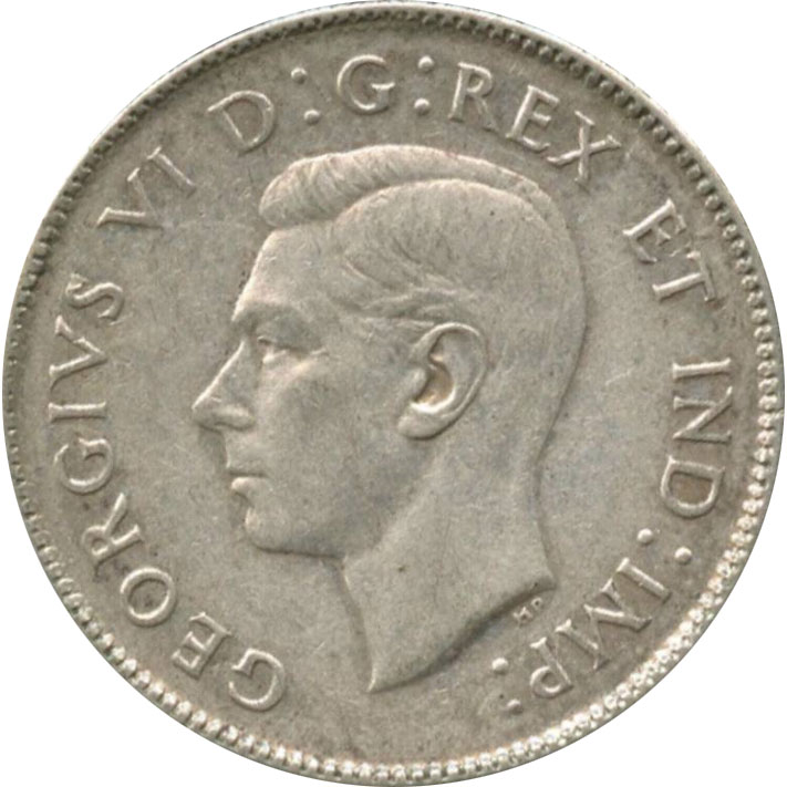 VF-20 - 25 cents 1937 to 1952 - George VI