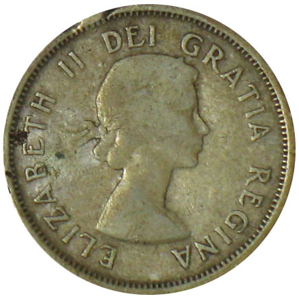 G-4 - 25 cents 1953 to 1964 - Elizabeth II