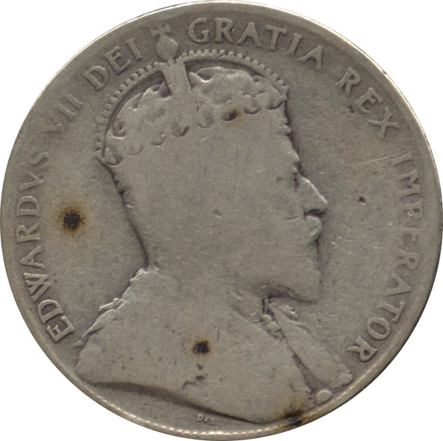 AG-3 - 50 cents 1902 to 1910 - Edward VII