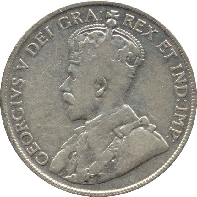 F-12 - 50 cents 1911 to 1936 - George V