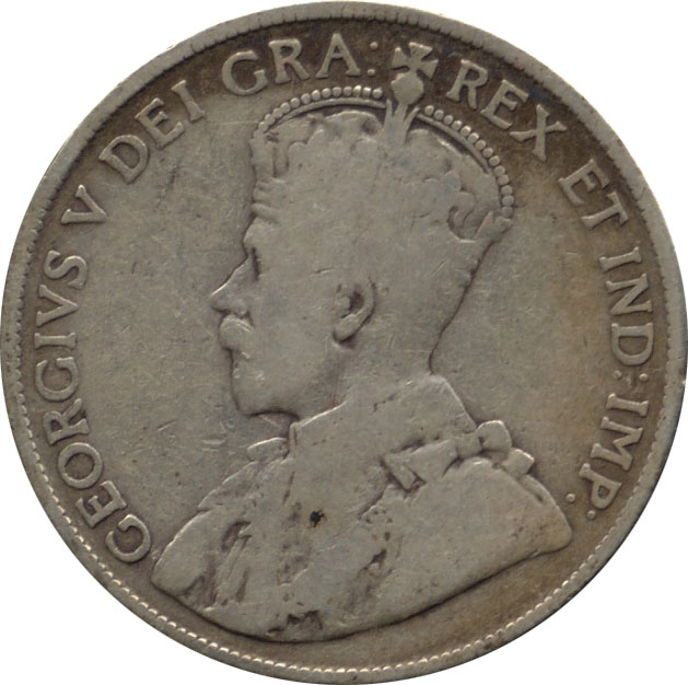VG-8 - 50 cents 1911 to 1936 - George V