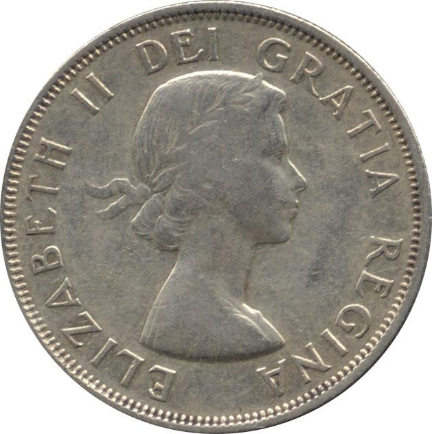F-12 - 50 cents 1953 to 1964 - Elizabeth II