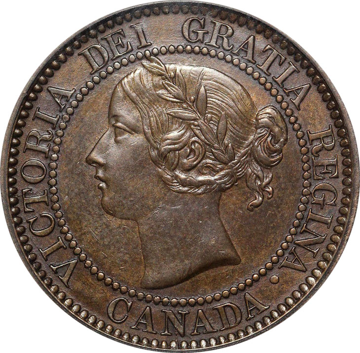 AU-50 - 1 cent 1858 and 1859 - Victoria