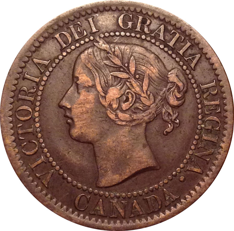VF-20 - 1 cent 1858 and 1859 - Victoria
