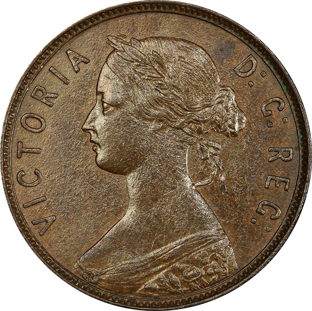 AU-50 - 1 cent 1865 to 1896 - Newfoundland - Victoria
