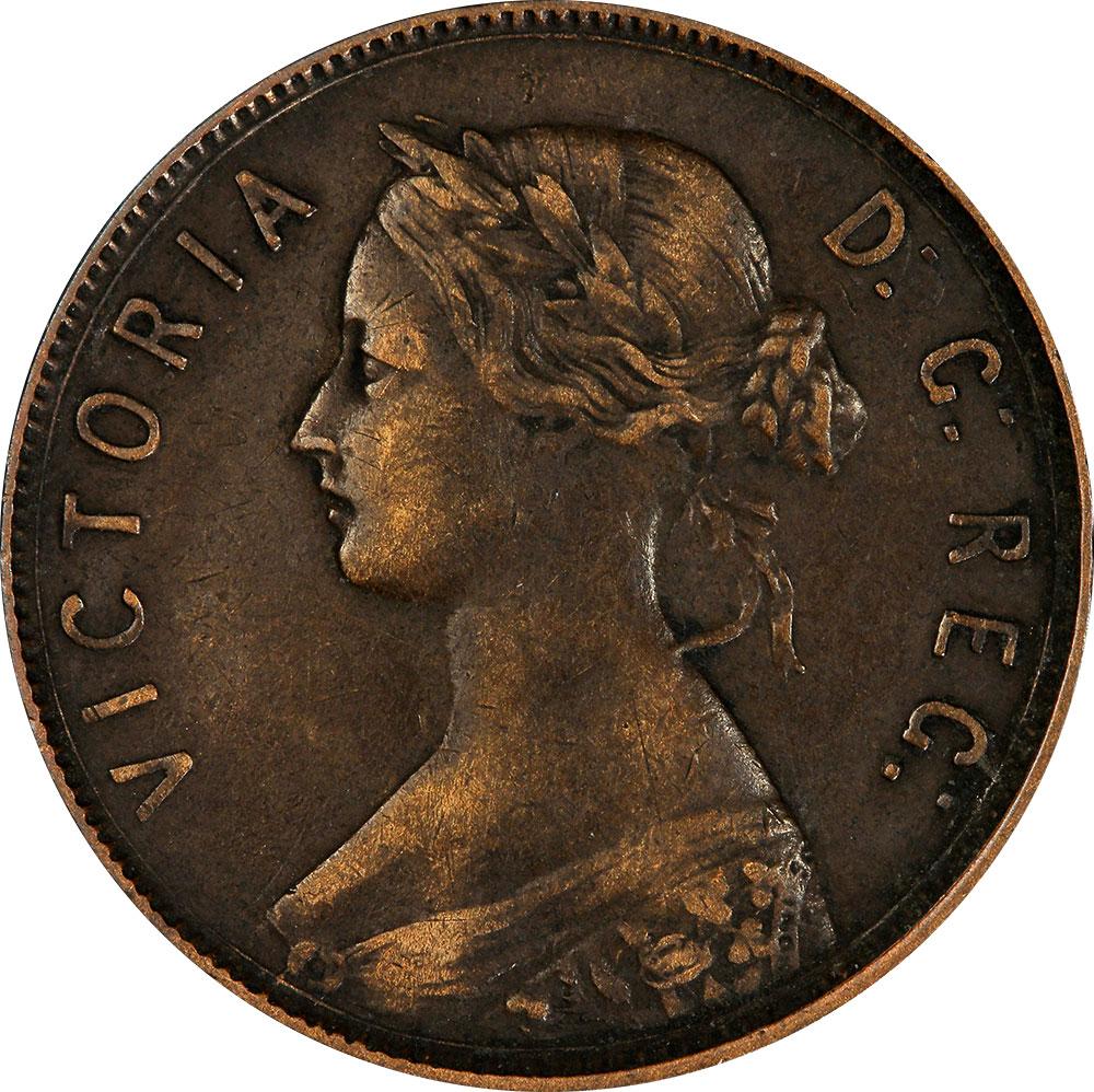 EF-40 - 1 cent 1865 to 1896 - Newfoundland - Victoria