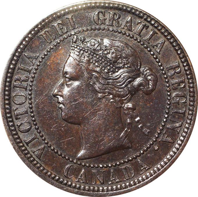 AU-50 - 1 cent 1876 to 1901 - Victoria