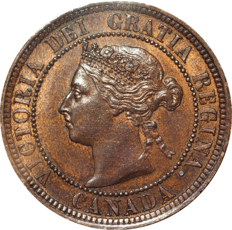 MS-60 - 1 cent 1876 to 1901 - Victoria