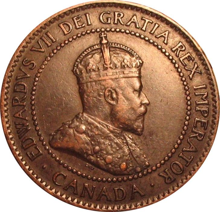 EF-40 - 1 cent 1902 to 1910 - Edward VII