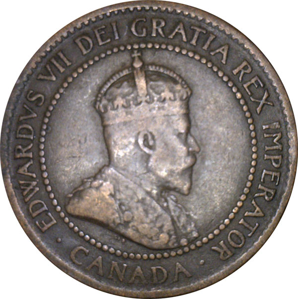 VG-8 - 1 cent 1902 to 1910 - Edward VII