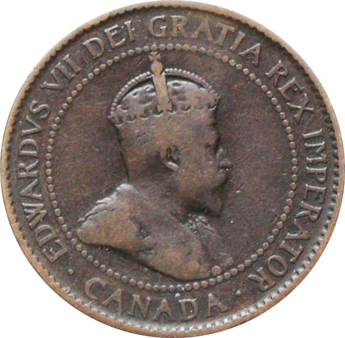 VG-8 - 1 cent 1902 to 1910 - Edward VII