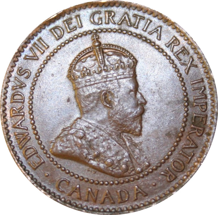 EF-40 - 1 cent 1902 to 1910 - Edward VII