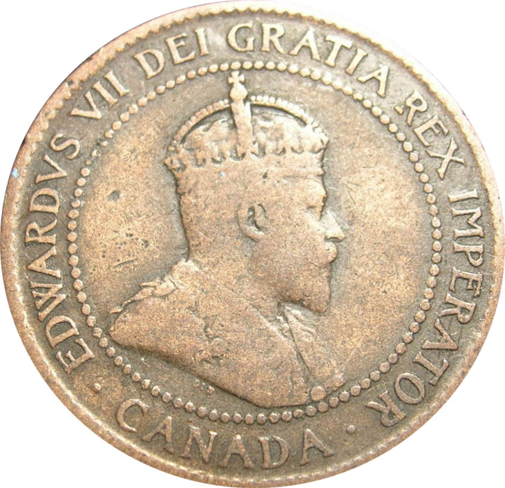 G-4 - 1 cent 1902 to 1910 - Edward VII