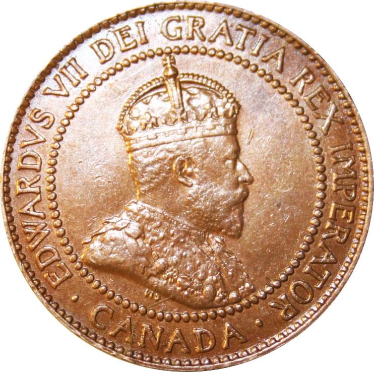 AU-50 - 1 cent 1902 to 1910 - Edward VII
