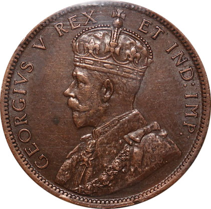 EF-40 - 1 cent 1911 to 1920 - George V