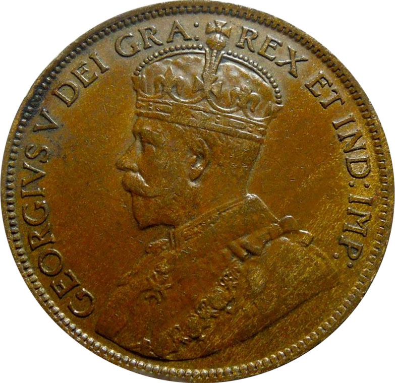 VF-20 - 1 cent 1911 to 1920 - George V
