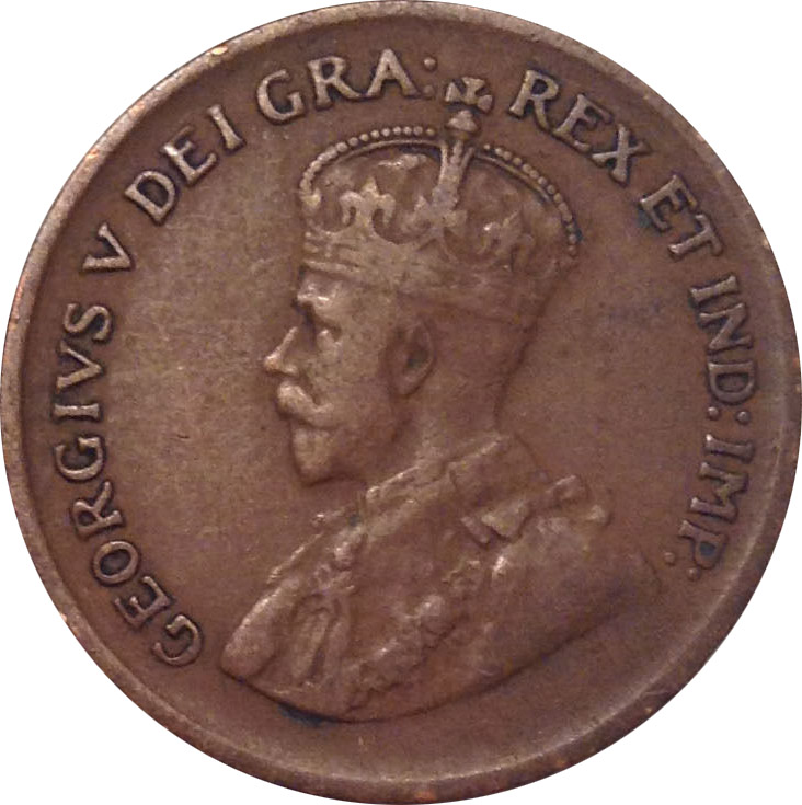F-12 - 1 cent 1920 to 1936 - George V