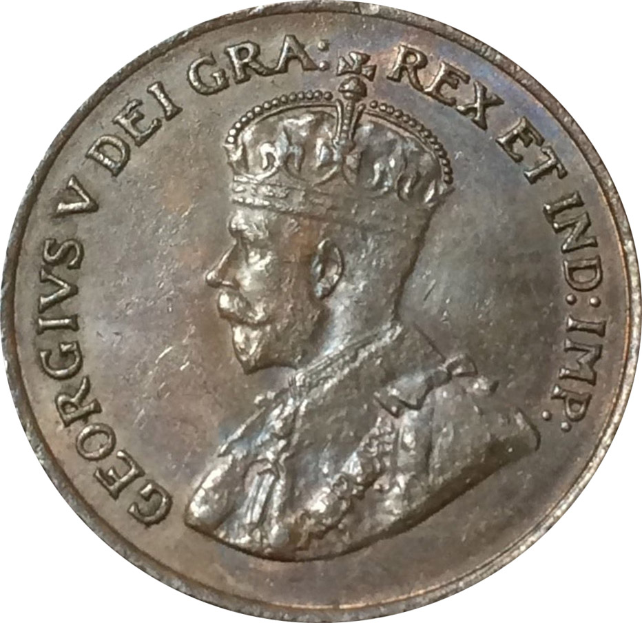 AU-50 - 1 cent 1920 to 1936 - George V