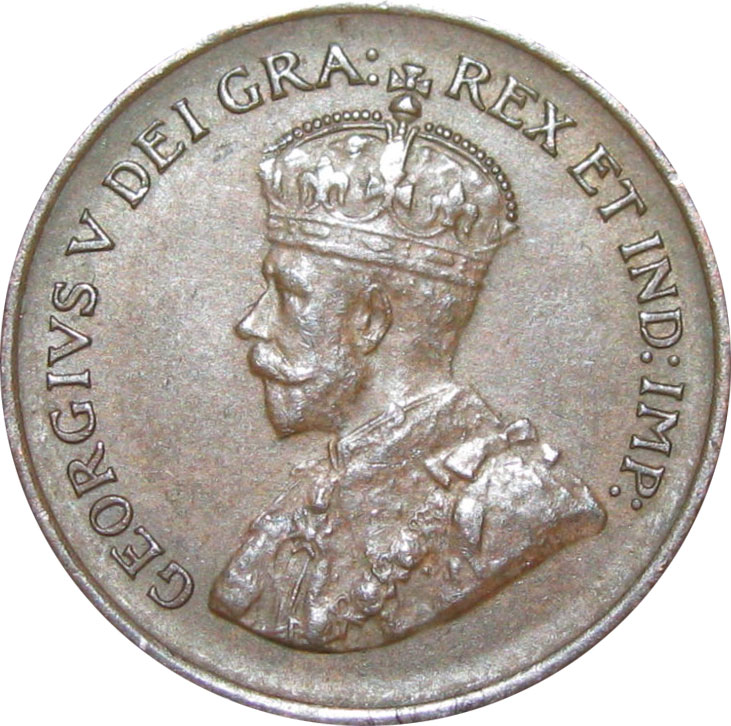 EF-40 - 1 cent 1920 to 1936 - George V