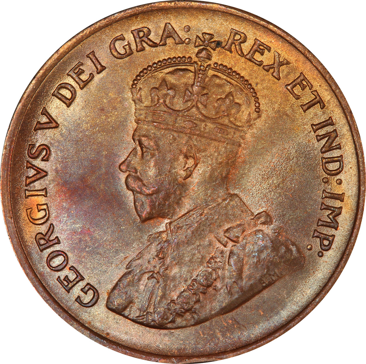 MS-60 - 1 cent 1920 to 1936 - George V