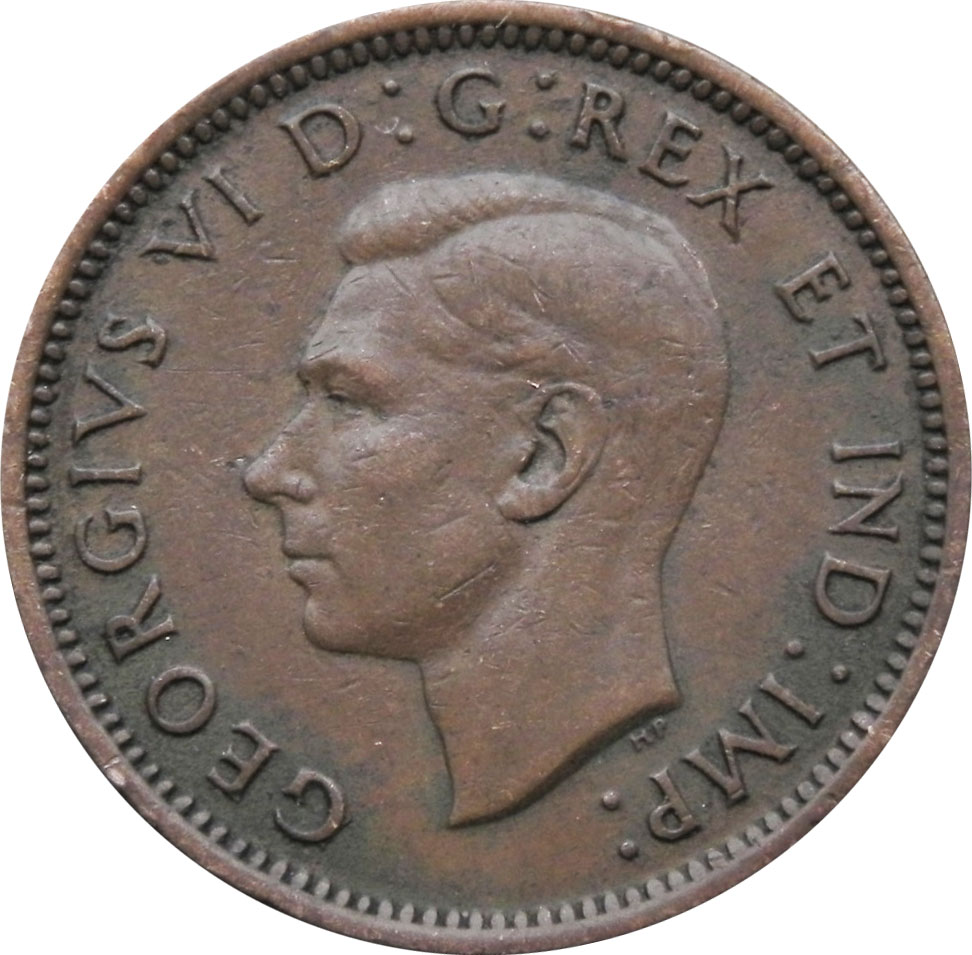 F-12 - 1 cent 1937 to 1952 - George VI