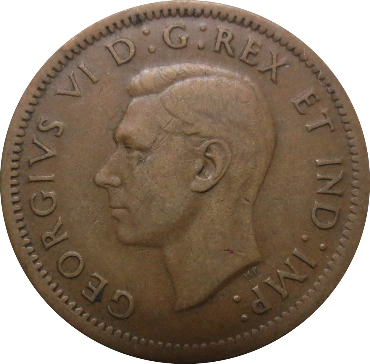 VG-8 - 1 cent 1937 to 1952 - George VI