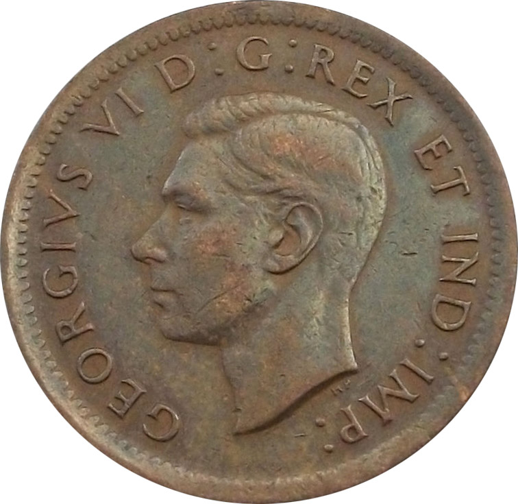 AU-50 - 1 cent 1937 to 1952 - George VI