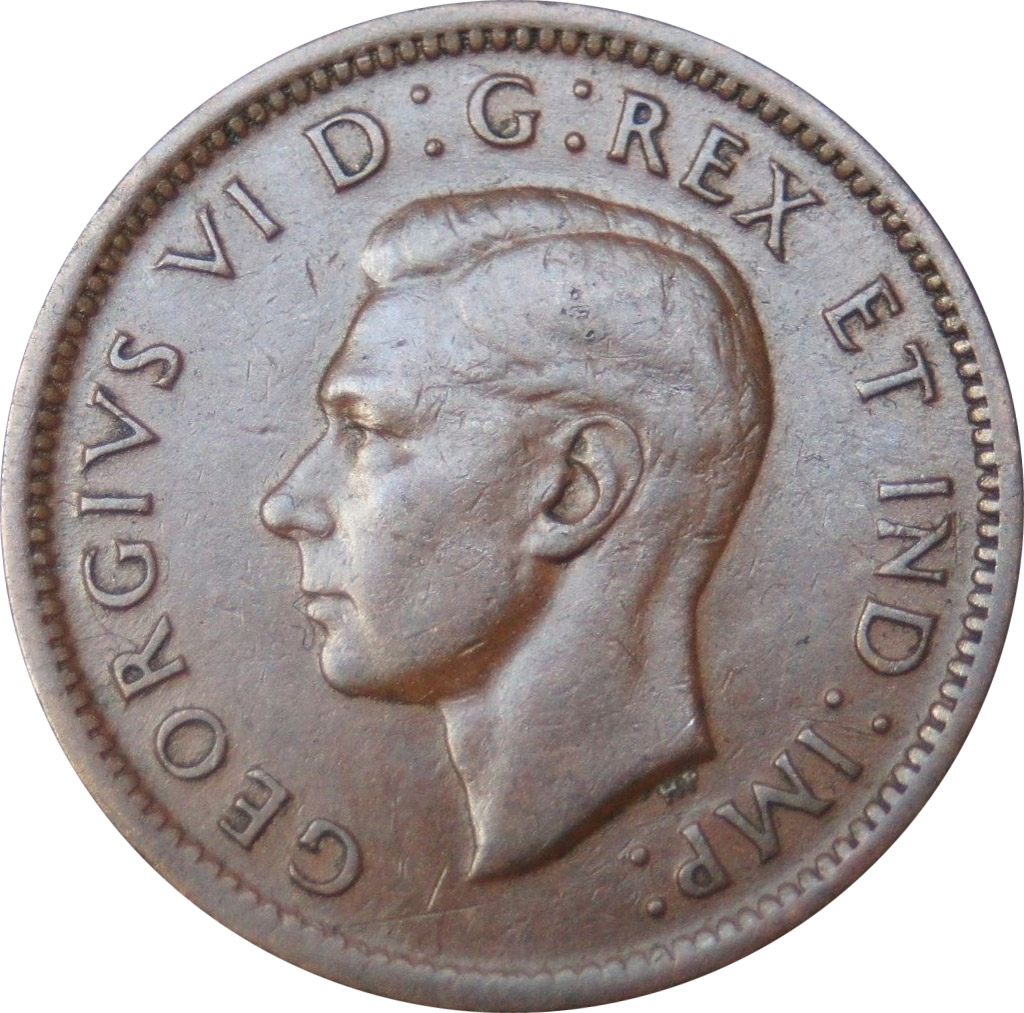 VF-20 - 1 cent 1937 to 1952 - George VI
