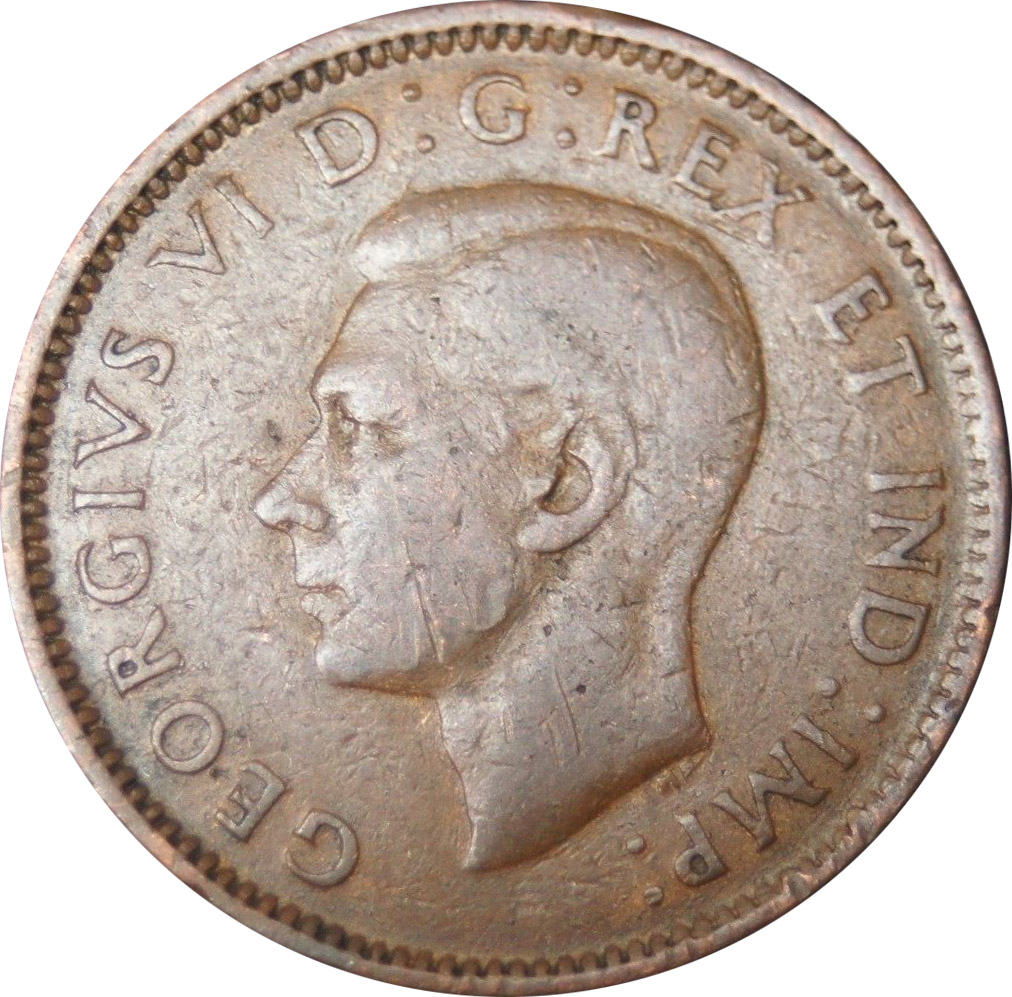 G-4 - 1 cent 1937 to 1952 - George VI