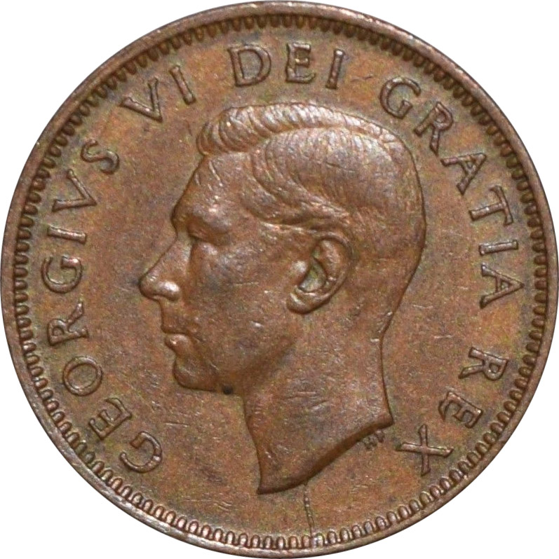 EF-40 - 1 cent 1937 to 1952 - George VI