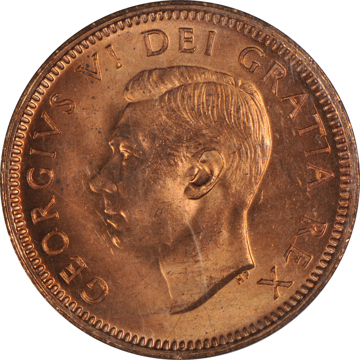 MS-60 - 1 cent 1937 to 1952 - George VI