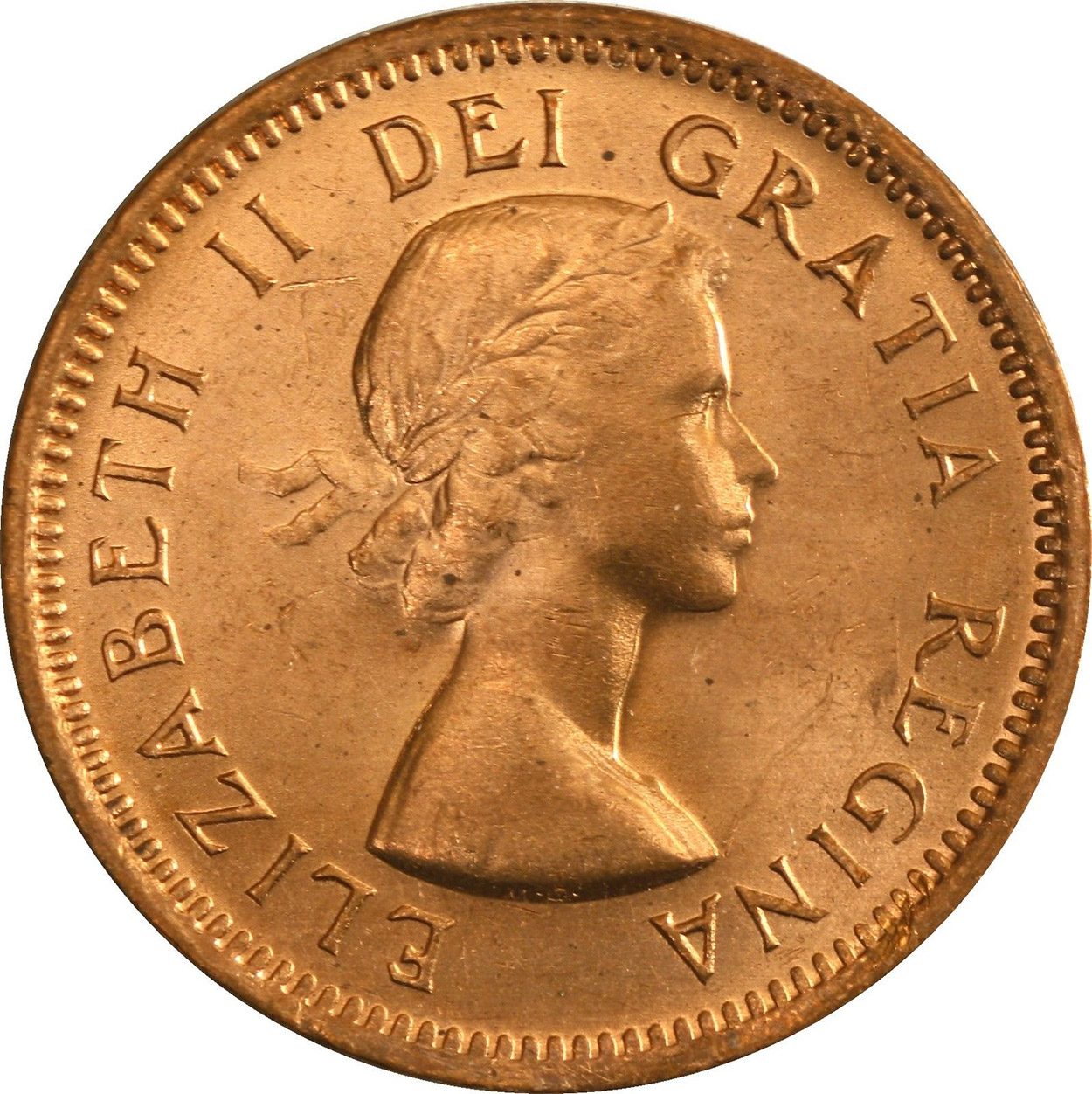 MS-60 - 1 cent 1953 to 1964 - Elizabeth II