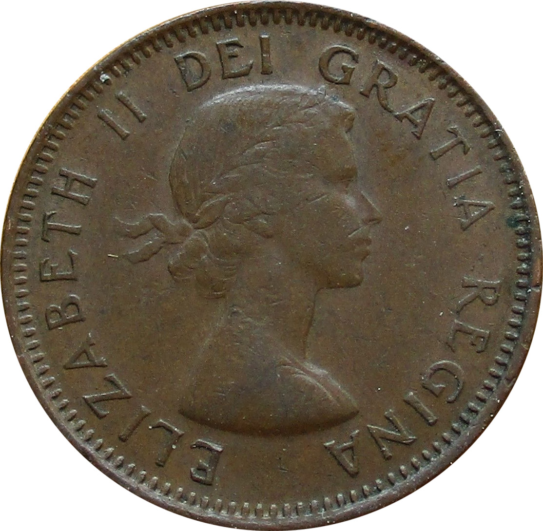 VF-20 - 1 cent 1953 to 1964 - Elizabeth II