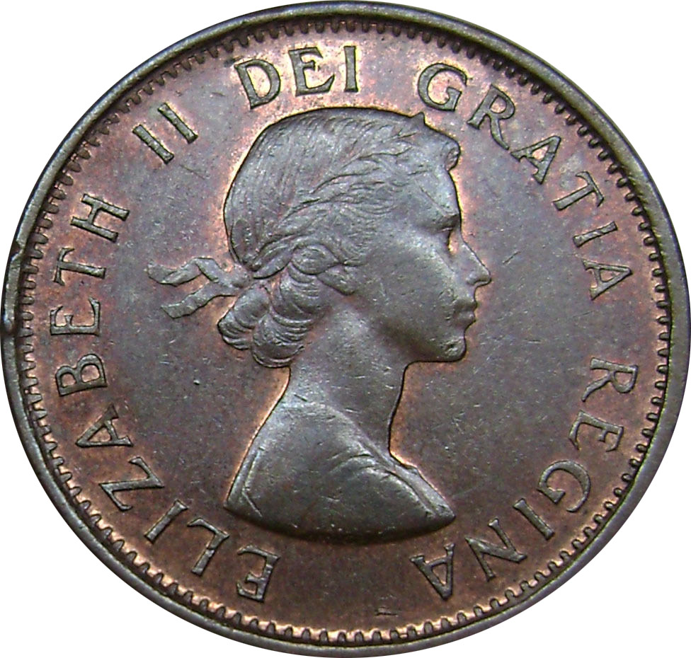 AU-50 - 1 cent 1953 to 1964 - Elizabeth II