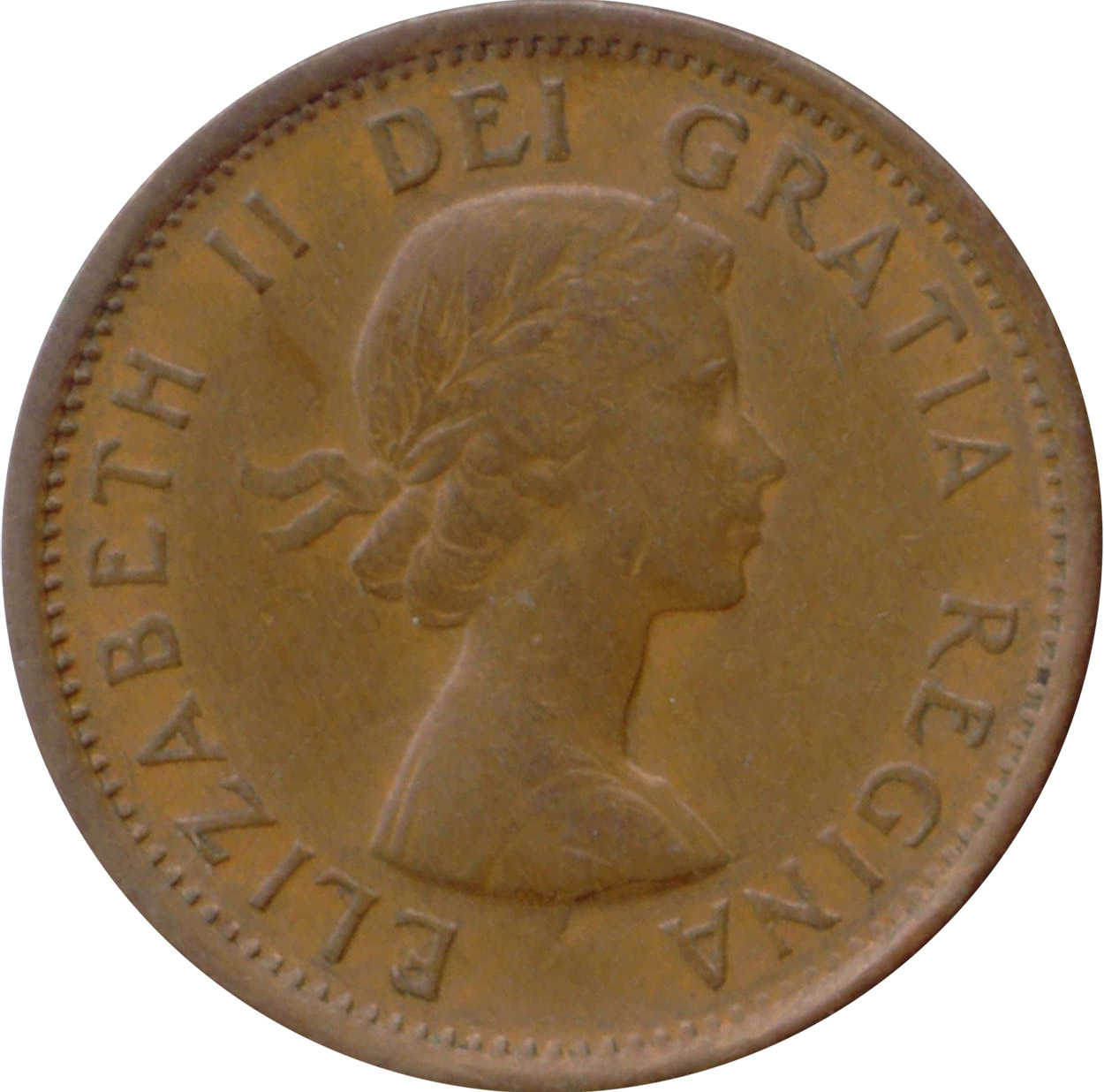 EF-40 - 1 cent 1953 to 1964 - Elizabeth II
