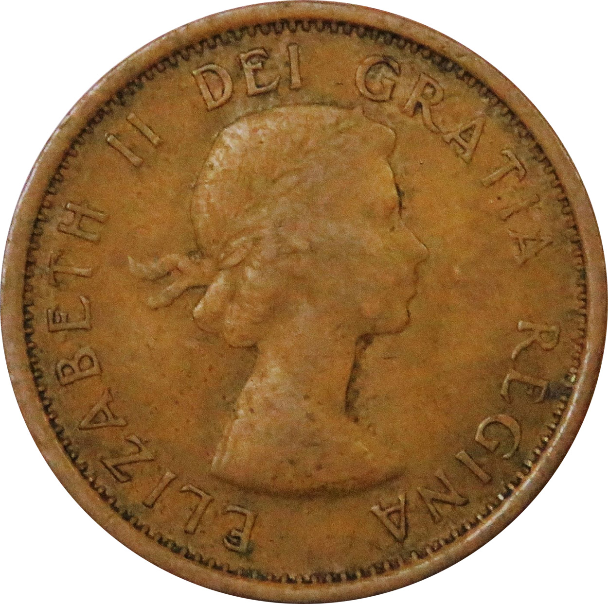 VG-8 - 1 cent 1953 to 1964 - Elizabeth II