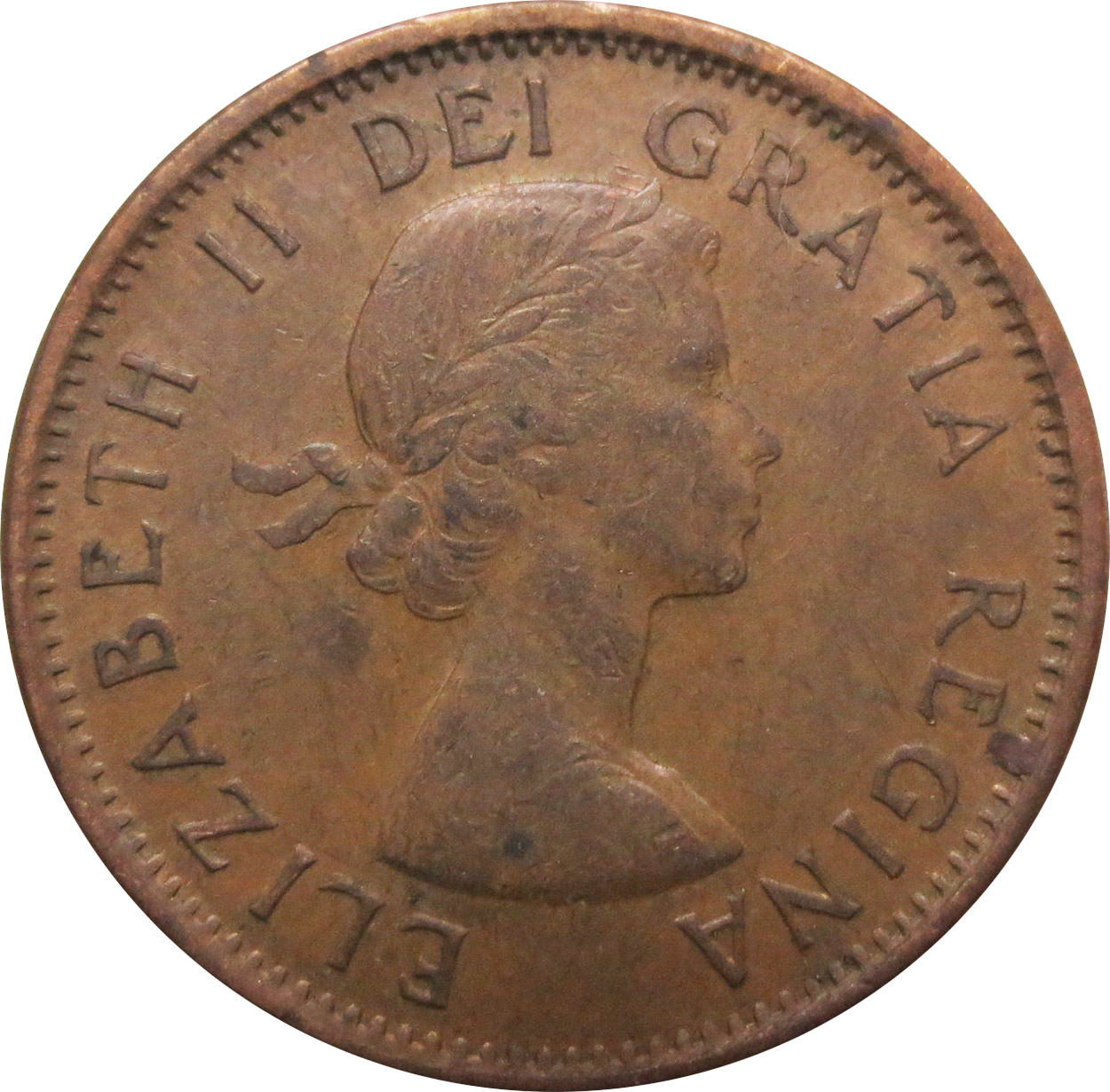VF-20 - 1 cent 1953 to 1964 - Elizabeth II