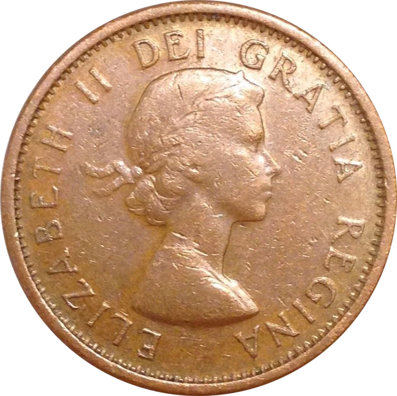 F-12 - 1 cent 1953 to 1964 - Elizabeth II