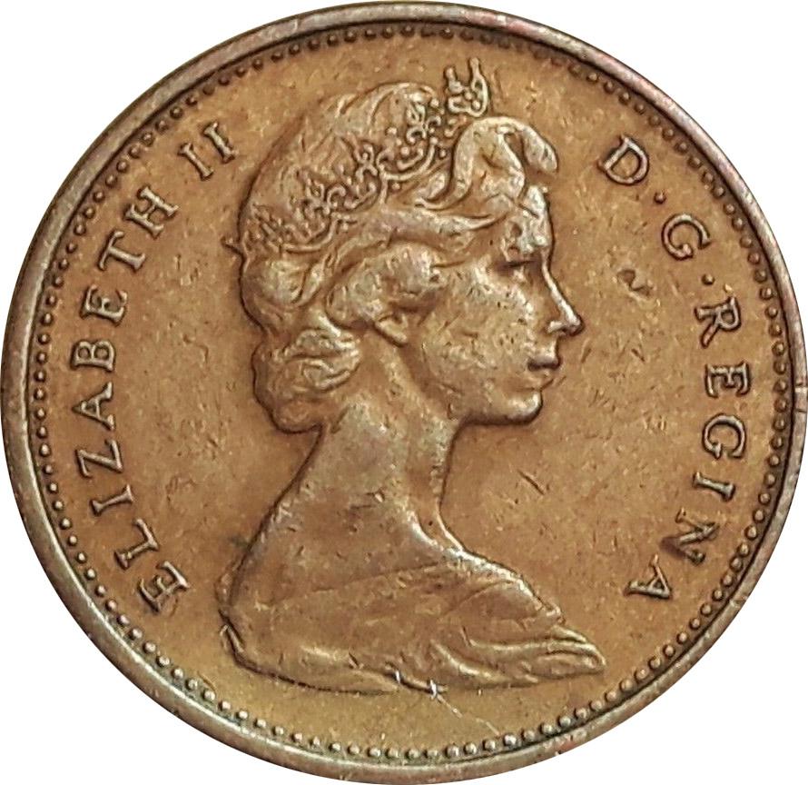 VF-20 - 1 cent 1965 to 1989 - Elizabeth II