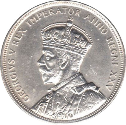 AU-50 - 1 dollar 1935 and 1936 - George V