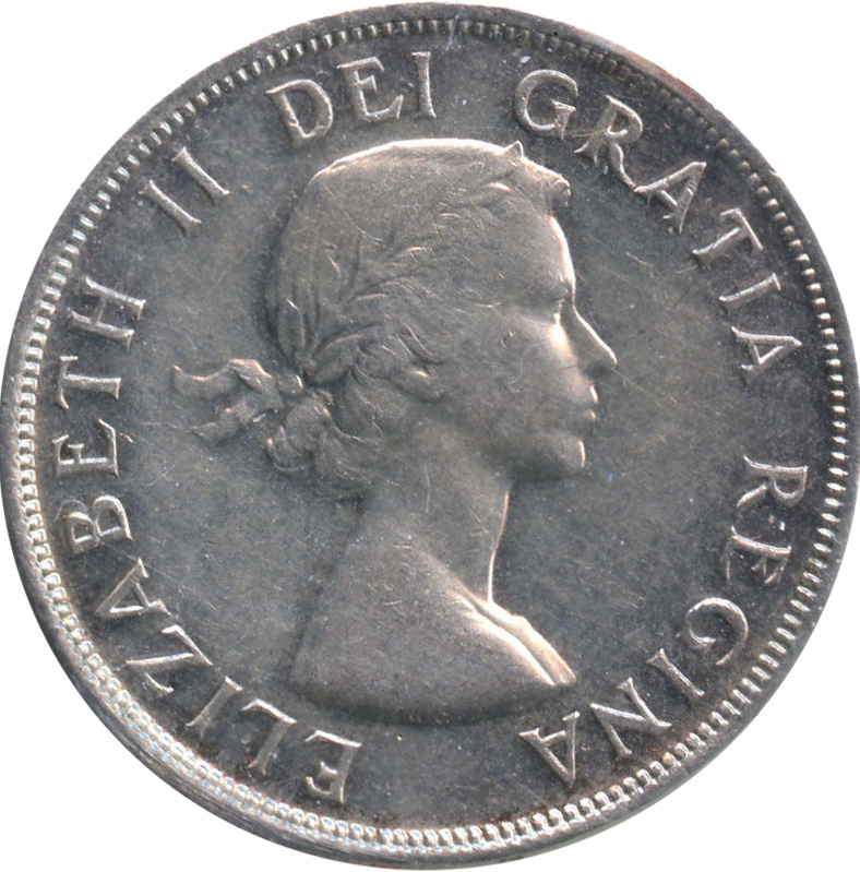 EF-40 - 1 dollar 1953 to 1964 - Elizabeth II