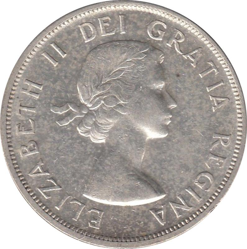 AU-50 - 1 dollar 1953 to 1964 - Elizabeth II