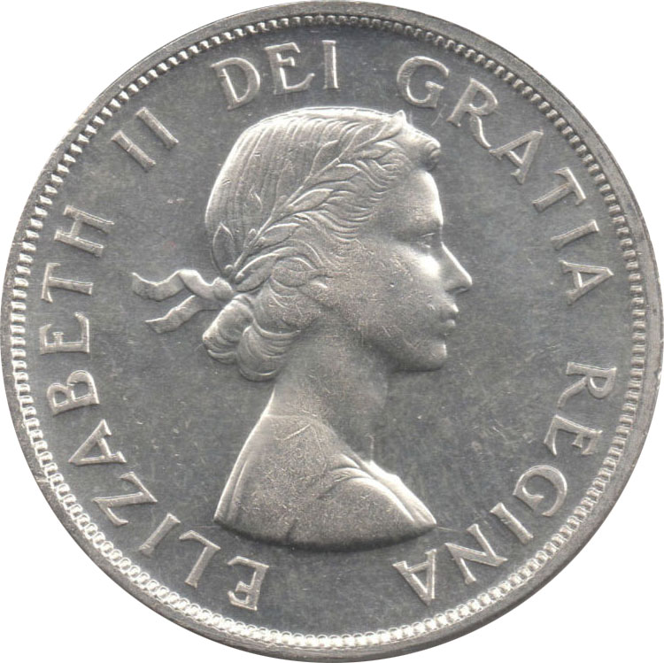 MS-60 - 1 dollar 1953 to 1964 - Elizabeth II