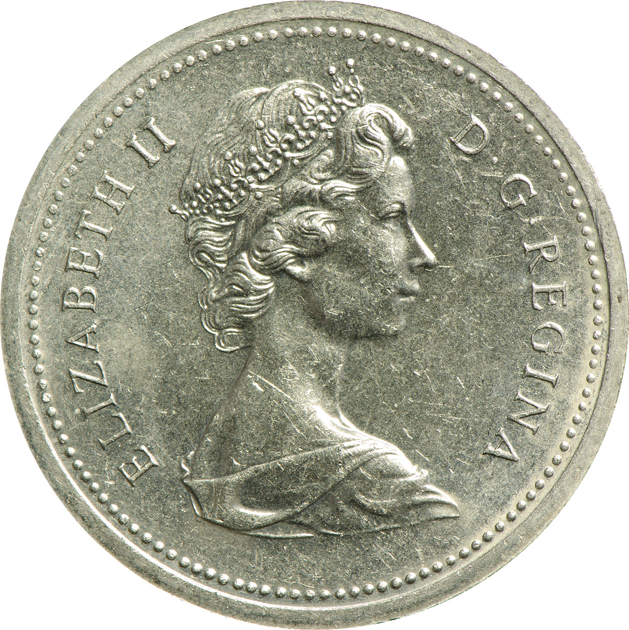 AU-50 - 1 dollar 1965 to 1989 - Elizabeth II