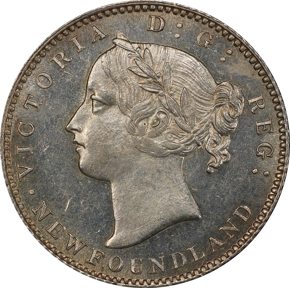 MS-60 - 10 cents 1865 to 1896 - Newfoundland - Victoria