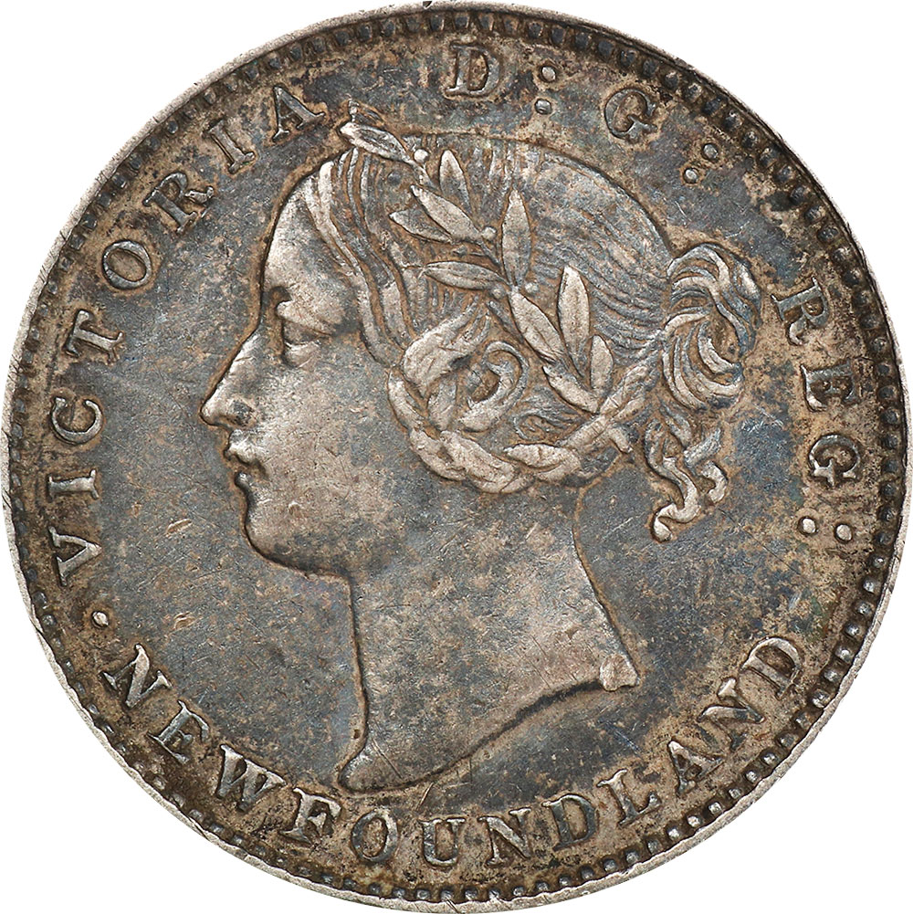 EF-40 - 10 cents 1865 to 1896 - Newfoundland - Victoria