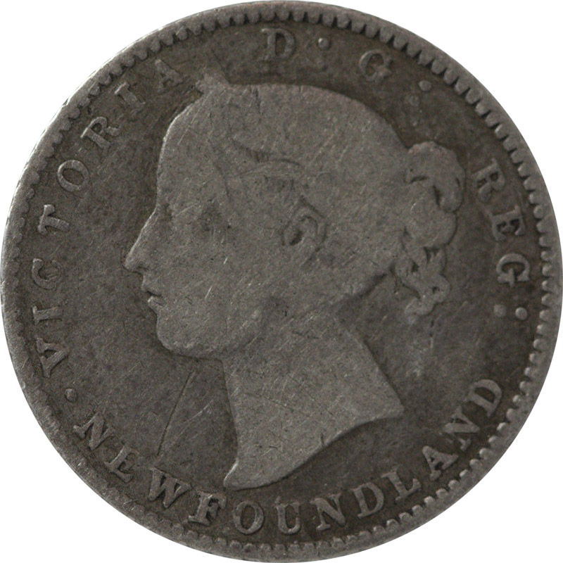 G-4 - 10 cents 1865 to 1896 - Newfoundland - Victoria
