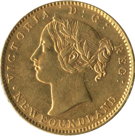 AU-50 - 2 dollars 1865 to 1888 -  Newfoundland   - Victoria